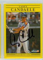 Casey Candaele AUTOGRAPH 1991 Fleer Astros 