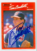 Tom Candiotti AUTOGRAPH 1990 Donruss Indians 