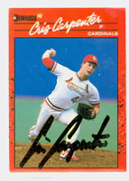 Cris Carpenter AUTOGRAPH 1990 Donruss Cardinals 