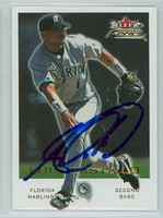 Luis Castillo AUTOGRAPH 2001 Fleer Focus Marlins 