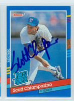 Scott Chiamparino AUTOGRAPH 1991 Donruss Rangers 