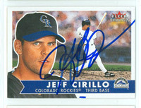 Jeff Cirillo AUTOGRAPH 2001 Fleer Tradition Rockies 