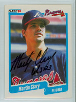Marty Clary AUTOGRAPH 1990 Fleer Braves 