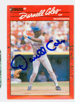 Darnell Coles AUTOGRAPH 1990 Donruss Mariners 