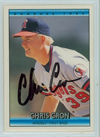 Chris Cron AUTOGRAPH 1992 Donruss Angels 