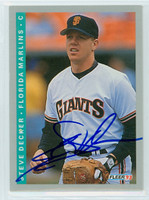 Steve Decker AUTOGRAPH 1993 Fleer Marlins 