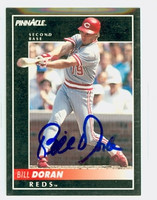 Bill Doran AUTOGRAPH 1992 Pinnacle Reds 