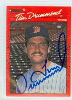 Tim Drummond AUTOGRAPH 1990 Donruss Twins 