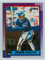 Shawon Dunston AUTOGRAPH 1990 Topps Cubs 