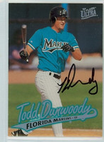 Todd Dunwoody AUTOGRAPH 1997 Fleer Ultra Marlins 