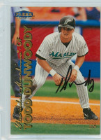Todd Dunwoody AUTOGRAPH 1999 Fleer Tradition Marlins 