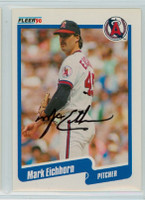 Mark Eichhorn AUTOGRAPH 1990 Fleer Angels 