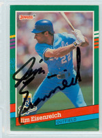Jim Eisenreich AUTOGRAPH 1991 Donruss Royals 