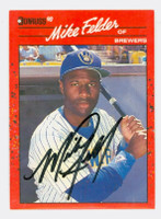 Mike Felder AUTOGRAPH 1990 Donruss Brewers 