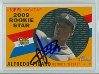 Alfredo Figaro AUTOGRAPH 2009 Topps Heritage 1960 Topps Design Tigers 