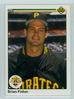 Brian Fisher AUTOGRAPH 1990 Upper Deck Pirates 