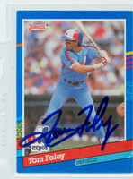 Tom Foley AUTOGRAPH 1991 Donruss Expos 