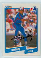 Tom Foley AUTOGRAPH 1990 Fleer Expos 