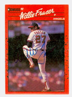 Willie Fraser AUTOGRAPH 1990 Donruss Angels 