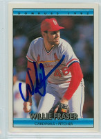 Willie Fraser AUTOGRAPH 1992 Donruss Cardinals 