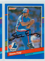 Steve Frey AUTOGRAPH 1991 Donruss Expos 