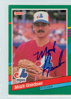 Mike Gardiner AUTOGRAPH 1991 Donruss Expos 