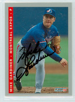 Mike Gardiner AUTOGRAPH 1993 Fleer Expos Final Edition 