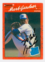 Mark Gardner AUTOGRAPH 1990 Donruss Expos 