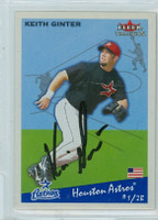 Keith Ginter AUTOGRAPH 2002 Fleer Tradition Astros 