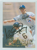Alex Gonzalez AUTOGRAPH 1997 Fleer Blue Jays 