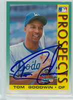 Tom Goodwin AUTOGRAPH 1992 Fleer Royals 