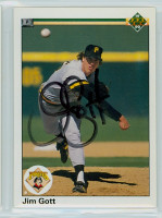 Jim Gott AUTOGRAPH 1990 Upper Deck Pirates 
