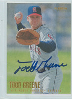 Todd Greene AUTOGRAPH 1996 Fleer Angels 