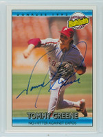 Tommy Greene AUTOGRAPH 1992 Donruss Phillies Highlight 