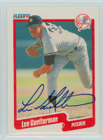 Lee Guetterman AUTOGRAPH 1990 Fleer Yankees 