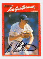 Lee Guetterman AUTOGRAPH 1990 Donruss Yankees 
