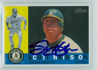 Scott Hairston AUTOGRAPH 2009 Topps Heritage 1960 Topps Design Athletics 