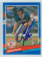 Greg Harris AUTOGRAPH 1991 Donruss Red Sox 