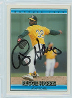 Reggie Harris AUTOGRAPH 1992 Donruss Athletics 