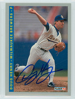 Doug Henry AUTOGRAPH 1993 Fleer Brewers 