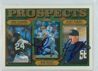 Raul Ibanez - Geoff Jenkins DUAL SIGNED 1996 Topps Prospects 