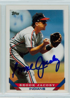 Brook Jacoby AUTOGRAPH 1993 Topps Indians 
