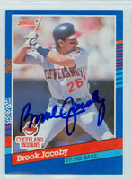 Brook Jacoby AUTOGRAPH 1991 Donruss Indians 