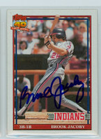 Brook Jacoby AUTOGRAPH 1991 Topps Indians 
