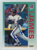 Chris James AUTOGRAPH 1992 Fleer Indians 