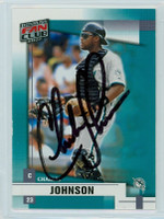 Charles Johnson AUTOGRAPH 1992 Donruss Marlins FAN CLUB 