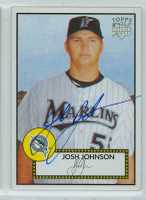 Josh Johnson AUTOGRAPH 2006 Topps 1952 Topps Edition Marlins 