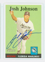 Josh Johnson AUTOGRAPH 2007 Topps Heritage 1958 Topps Design Marlins 