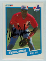 Wallace Johnson AUTOGRAPH 1990 Fleer Expos 