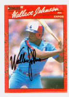 Wallace Johnson AUTOGRAPH 1990 Donruss Expos 